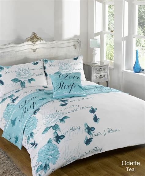 single bed comforter sets details about odette teal bed in a bag duvet quilt
