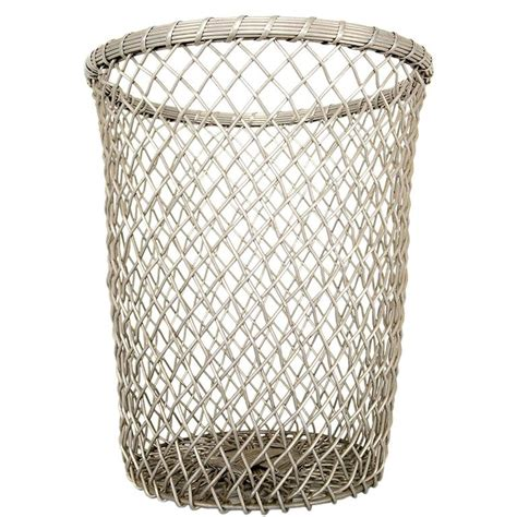 decorative waste baskets aluminum decorative waste basket for sale at 1stdibs