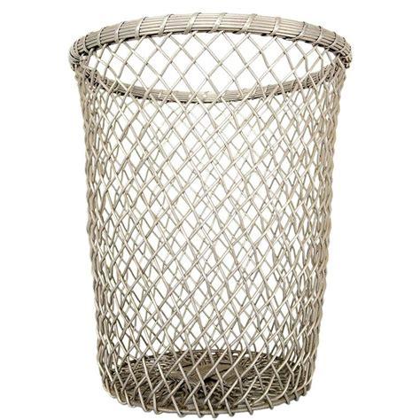 Decorative Waste Baskets | aluminum decorative waste basket for sale at 1stdibs