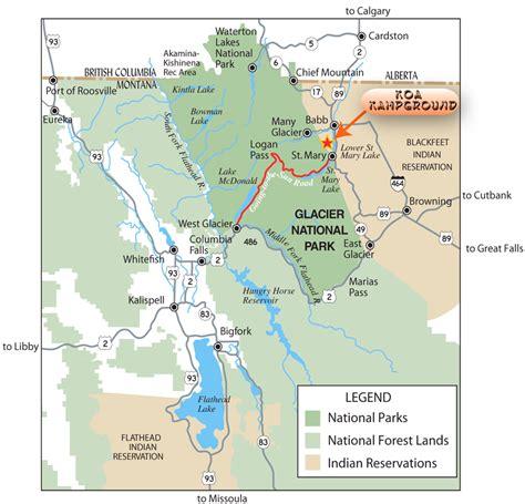 montana national parks map glacier national park canada map