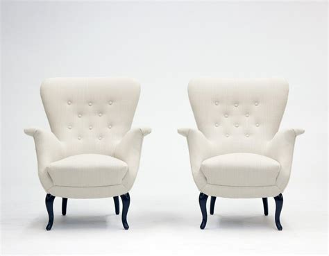 m s armchair white lounge chairs from s m wincrantz 1950s set of 2