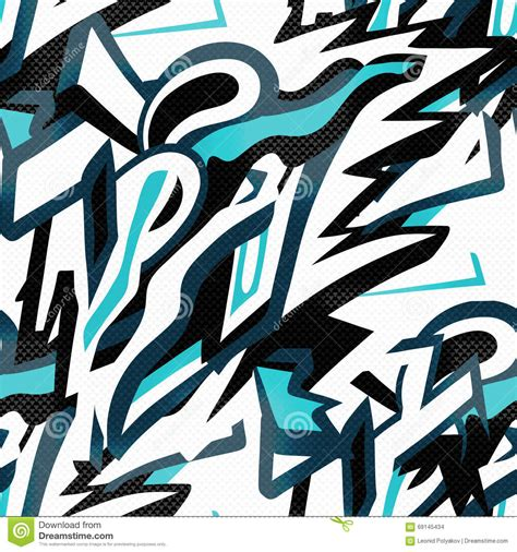 abstract graffiti pattern abstract seamless pattern graffiti in gentle colors stock