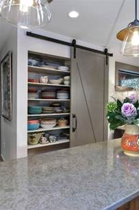 barn door kitchen pantry from rustic to chic 15 kitchens with barn door accents