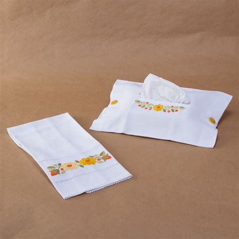 Tissue Towel bathroom set of tissue box cover towel