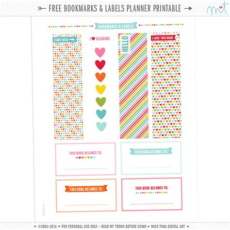 free pages templates free planner printables