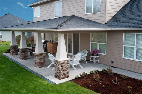 Covered Patio Pics by Backyard On Sloped Backyard Retaining Walls