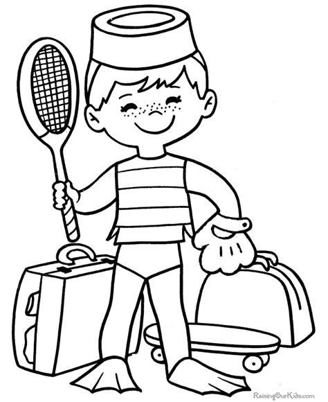 sports coloring pages to print coloring pages
