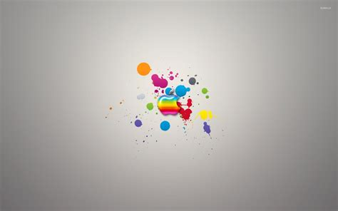 colorful mac computer colorful apple on paint splash wallpaper computer