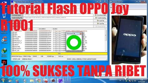 tutorial flash oppo r1001 tutorial flash oppo r1001 via sp flashtool youtube