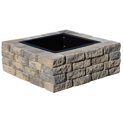 pit kits pavestone rumblestone 38 5 in x 21 in square concrete pit kit no 5 in cafe rsk50769