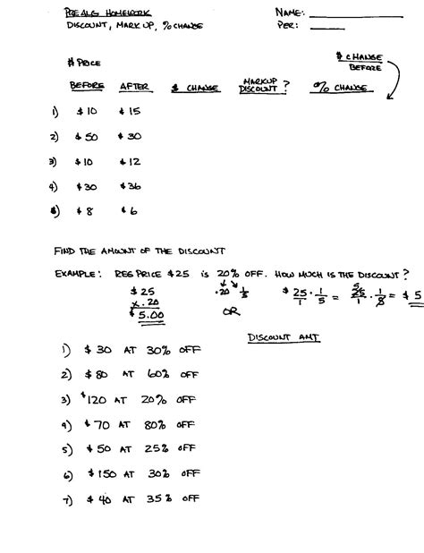 7th Grade Math Worksheets Answers by 16 Best Images Of Finding Percent Worksheets 7th Grade
