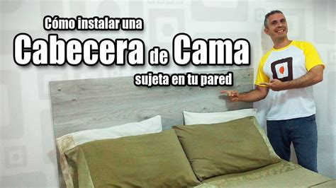 cabecera de cama sujeta en la pared muebles de melamina diy youtube