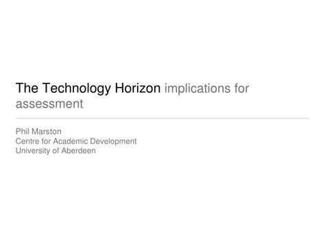 test technology overview ppt download ppt the technology horizon implications for assessment