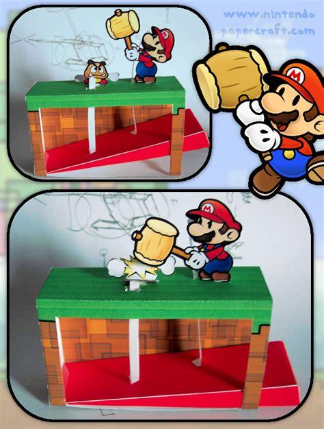 Paper Mario Papercraft - papercraft automata paper mario hammer papercraft4u