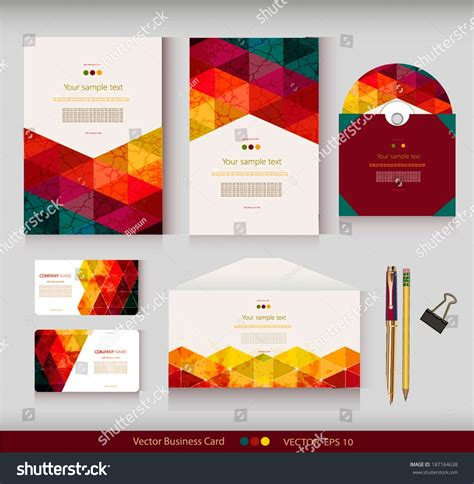 business card envelope template vector identity vector templates geometric pattern envelope stock