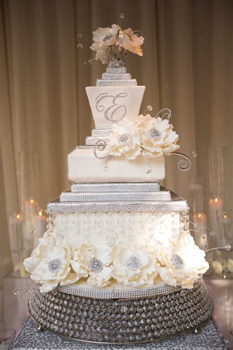 New Style Wedding Cakes by Wedding Cake Displays Sparkling Cake Stands