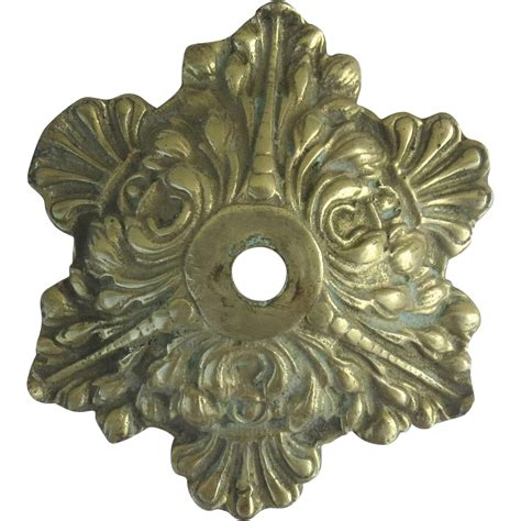 ceiling canopy for chandelier vintage brass chandelier ceiling canopy with acanthus leaf