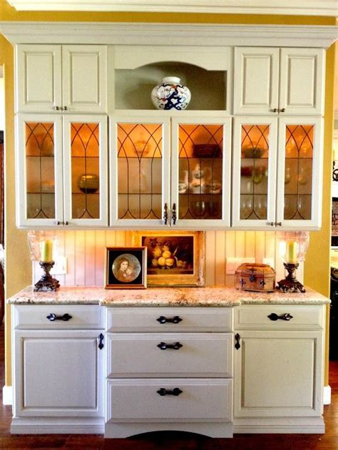 country kitchen in camarillo leaded glass cabinet