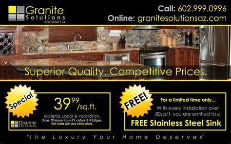 Granite Countertop Specials granite specials granite solutions