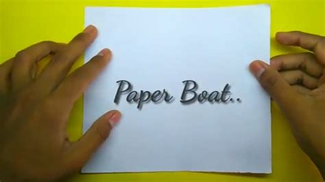 how to make a paper boat in hindi paper boat kaise bnaate hain l how to make paper boat easy