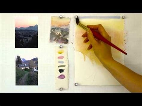 watercolor landscape tutorial youtube 17 best images about my watercolor tutorials for beginners