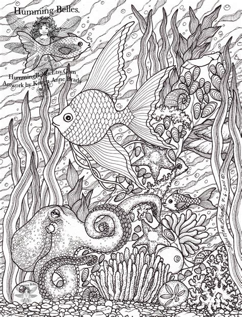 complicated fish coloring pages humming belles quot new undersea illustrations and