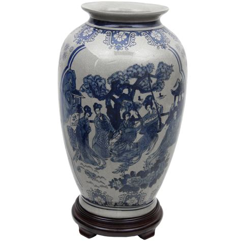 asian vases furniture 14 quot blue white porcelain tung
