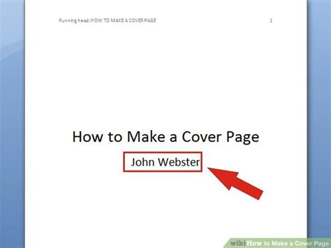6 ways to make a cover page wikihow