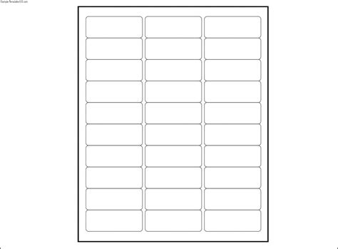33 Labels Per Sheet Template Aiyin Template Source 33 Label Template
