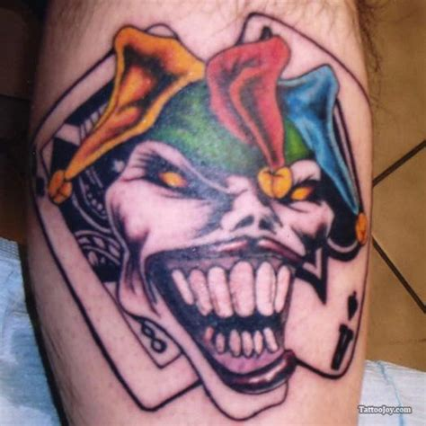 tattoo design cards joker card tattoo pictures gallery