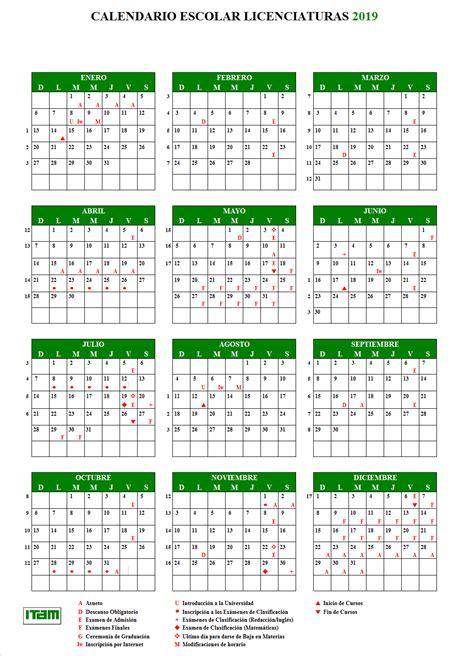 Calendario Escolar Itam Itam Direcci 243 N Escolar