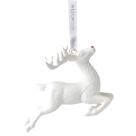 figural reindeer christmas ornament 2017 wedgwood