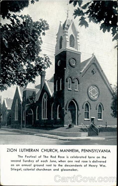 Manheim Post Office by Zion Lutheran Church Manheim Pa