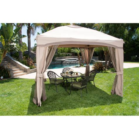 Patio Gazebo Walmart Portable Patio Gazebo With Single Roof Netting 10 X 10 Walmart