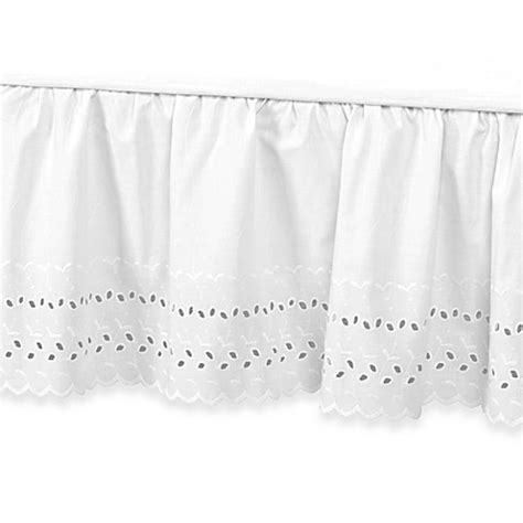 14 inch bed skirt buy vintage chic eyelet 14 inch bed skirt california king white from bed bath