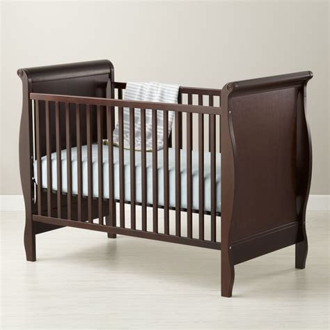Sleigh Bed Crib Baby Cribs Convertible Cribs The Land Of Nod