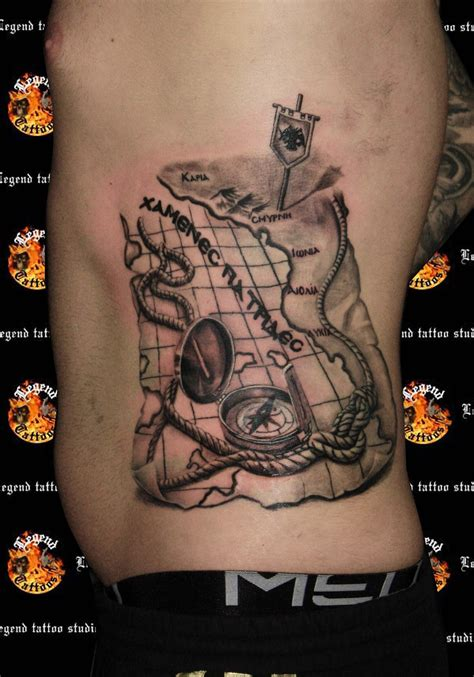 compass map tattoo compass tattoos and designs page 8