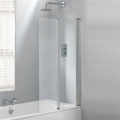 bathroom wholesalers uk classic nouveau 2 fold bath screen 1400 x 860mm