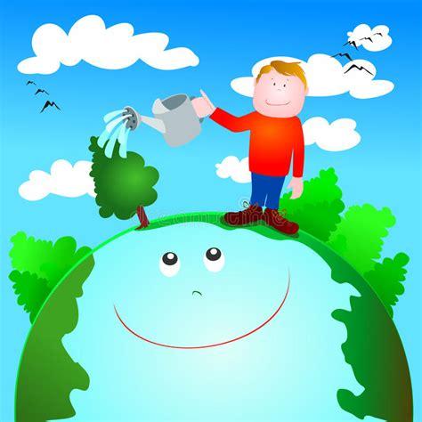 dibujo alusido del cuidado del medio ambiente cuidado verde y protecci 243 n del medio ambiente ilustraci 243 n