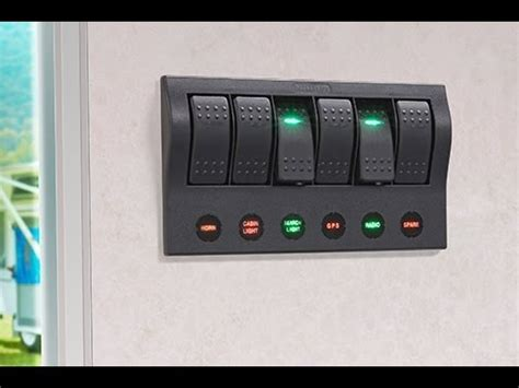 narva    led switch panel  fuse protection   spst led illuminated rocker