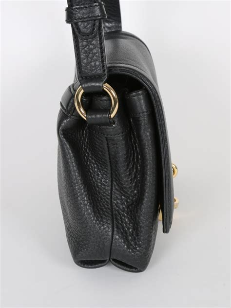 Small Black Leather by Dolce Gabbana Lock Small Black Leather Shoulder Bag