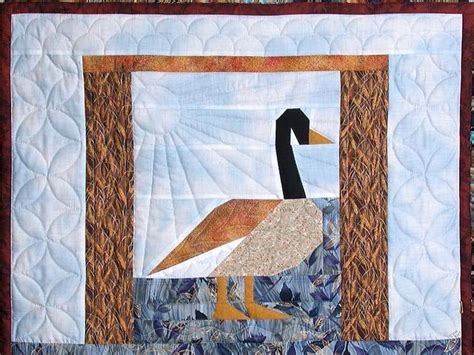 Patchwork Goose - patchwork goose quilt splendid made with care amish