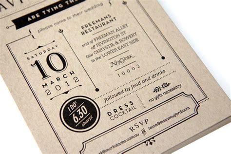 graphic design wedding invitation  tessa mulford ams