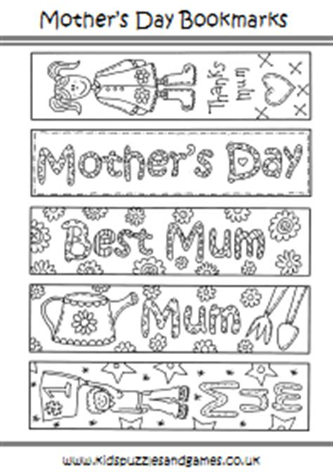 printable bookmarks mother s day mother s day uk kids puzzles and games