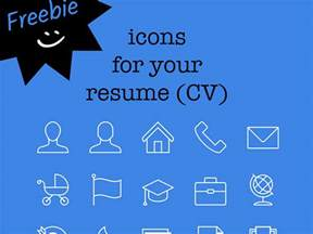 freebie 15 icons for your resume cv free icon packs