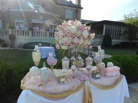 sweet jonesin candy buffet blush pink gold candy buffet