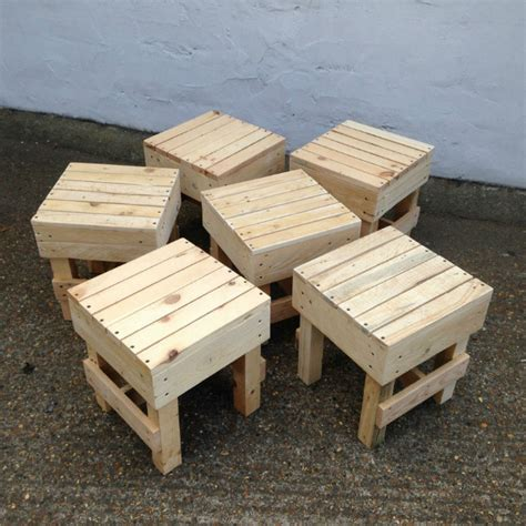 Round Fire Pits Outdoor - squared small wooden stool pallet furniture