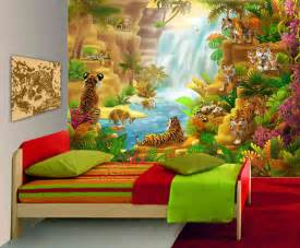 Wall Murals For Children Large Wall Mural Tigers Kids Wall Mural Bedroom Playroom
