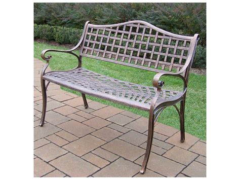 bench and bar oakland ca oakland living elite cast aluminum settee bench in antique