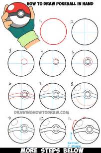 How To Draw A Step By Step Easy How To Draw Pokeball In Ash S Step By Step